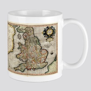 Vintage Map of England (1596) Mugs